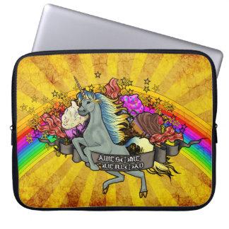 Awesome Overload Unicorn, Rainbow & Bacon Computer Sleeves