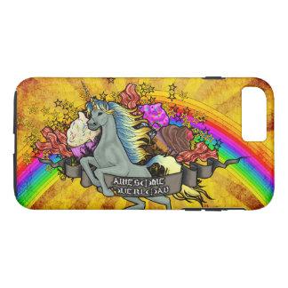 Awesome Overload Unicorn, Rainbow & Bacon iPhone 8 Plus/7 Plus Case