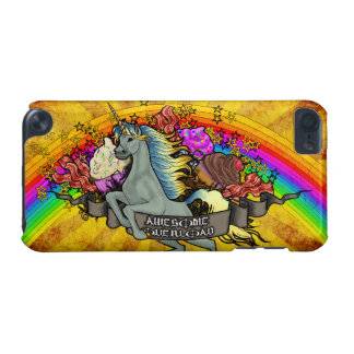 Awesome Overload Unicorn, Rainbow & Bacon iPod Touch (5th Generation) Cover