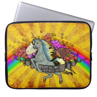 Awesome Overload Unicorn, Rainbow & Bacon Laptop Sleeve