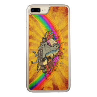 Awesome Overload Unicorn, Rainbow & Bacon Maple Carved iPhone 8 Plus/7 Plus Case