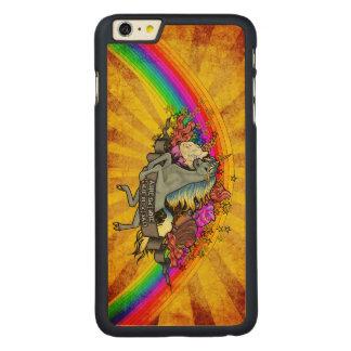 Awesome Overload Unicorn, Rainbow & Bacon Maple Carved Maple iPhone 6 Plus Case