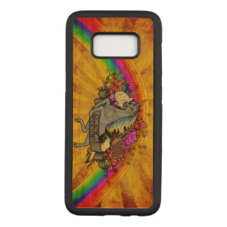 Awesome Overload Unicorn, Rainbow & Bacon Maple Carved Samsung Galaxy S8 Case