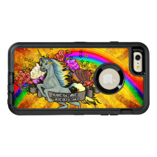 Awesome Overload Unicorn, Rainbow & Bacon OtterBox Defender iPhone Case