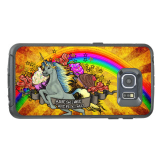 Awesome Overload Unicorn, Rainbow & Bacon OtterBox Samsung Galaxy S6 Edge Case