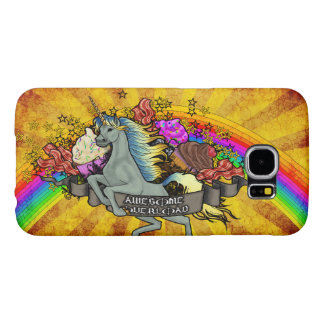 Awesome Overload Unicorn, Rainbow & Bacon Samsung Galaxy S6 Cases