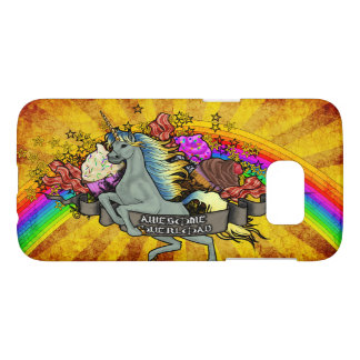 Awesome Overload Unicorn, Rainbow & Bacon Samsung Galaxy S7 Case