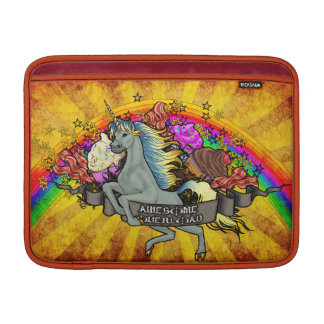 Awesome Overload Unicorn, Rainbow & Bacon Sleeve For MacBook Air