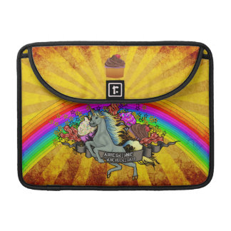 Awesome Overload Unicorn, Rainbow & Bacon Sleeve For MacBooks