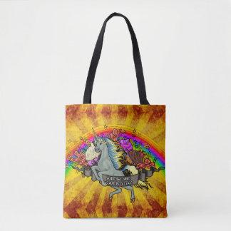 Awesome Overload Unicorn, Rainbow & Bacon Tote Bag