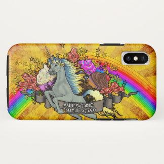 Awesome Overload Unicorn, Rainbow & Bacon Tough iPhone X Case