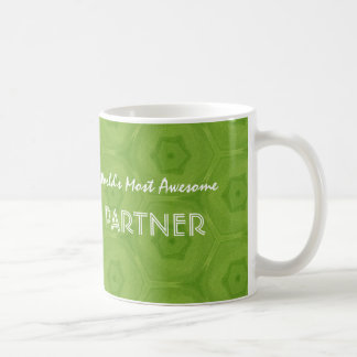 Awesome PARTNER Green and Blue Star D54Z Coffee Mug