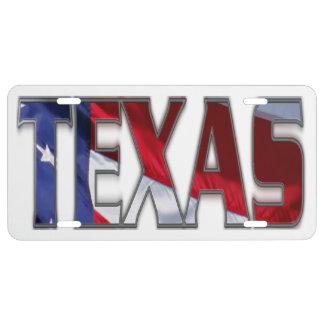 Awesome Patriotic Texas License Plate