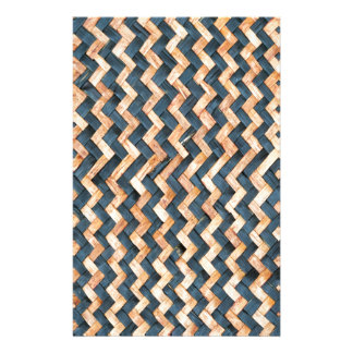 awesome pattern blue  and Gold  Foil Metallic Stationery