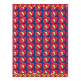 Awesome Patterns Colourful Graphics Digital Postcard