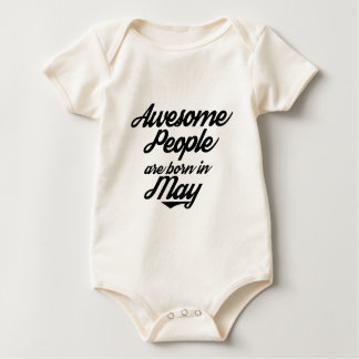 Awesome People are born in May Baby Bodysuit