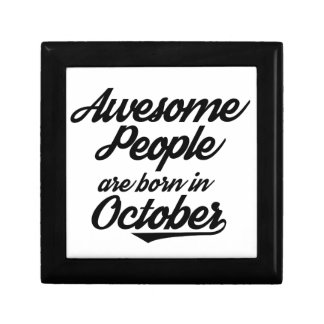 Awesome People are born in October Gift Boxes