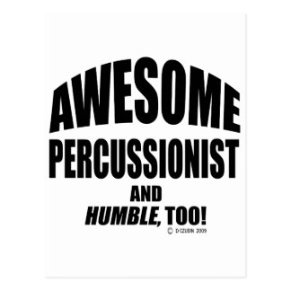 Awesome Percussionist Postcard