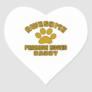 AWESOME PHARAOH HOUND DADDY HEART STICKER