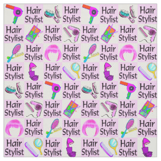 AWESOME PINK HAIR STYLIST FABRIC