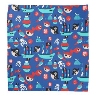 Awesome pirate pattern bandanna