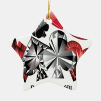 Awesome poker symbols design ceramic star ornament