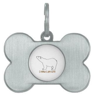 awesome polar bear designs pet ID tags