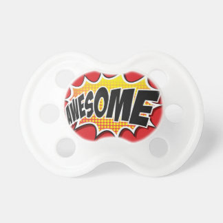 Awesome pop art design, cool and jazzy! pacifier