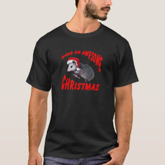 Awesome Possum Christmas T-Shirt