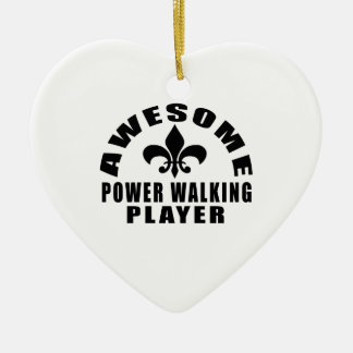 AWESOME POWER WALKING PLAYER CERAMIC HEART ORNAMENT