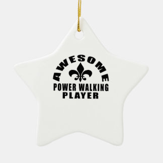 AWESOME POWER WALKING PLAYER CERAMIC STAR ORNAMENT
