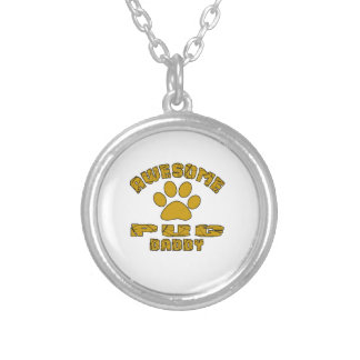 AWESOME PUG DADDY SILVER PLATED NECKLACE