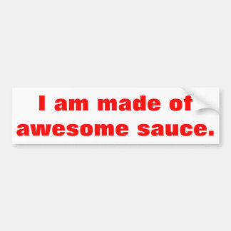 Awesome quote bumper sticker
