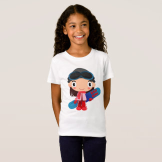 Awesome RAD GIRL Snowboarder T-Shirt