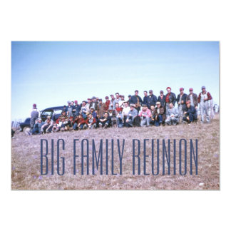 Awesome Retro Family Reunion 5x7 Paper Invitation Card
