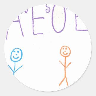 Awesome Round Sticker