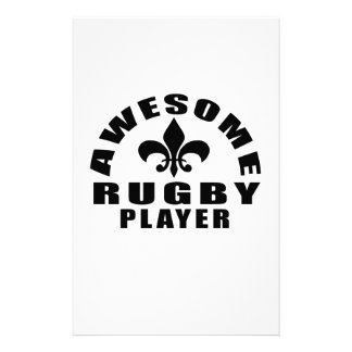 AWESOME RUGBY PLAYER STATIONERY DESIGN