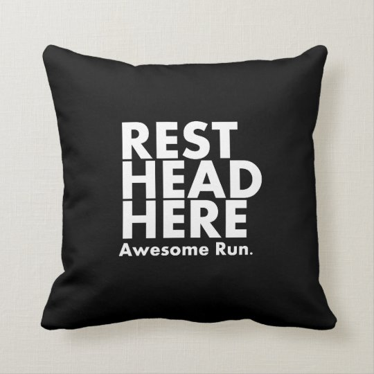 """Awesome Run"" Runner's Pillow Black"