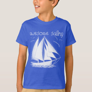 Awesome sailing! nautical, vintage, personalized T-Shirt
