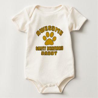 AWESOME SAINT BERNARD DADDY BABY BODYSUIT
