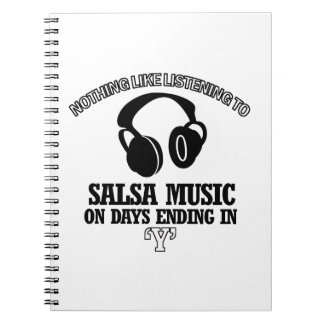 awesome Salsa music designs Notebook
