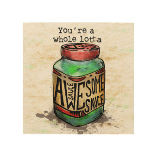Awesome Sauce Agorables Mason Jar Wood Wall Art