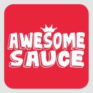 Awesome Sauce Square Sticker