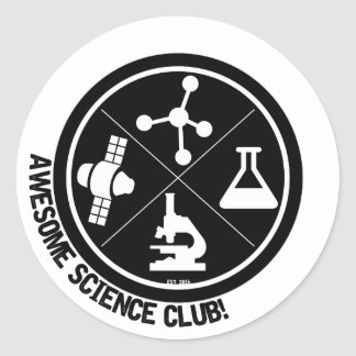 Awesome Science Club Stickers! Round Sticker