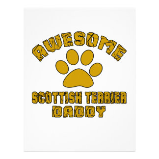 AWESOME SCOTTISH TERRIER DADDY LETTERHEAD