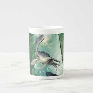Awesome seadragon in a fantasy underwater world tea cup
