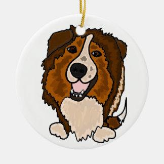 Awesome Shetland Sheepdog Art Ceramic Ornament