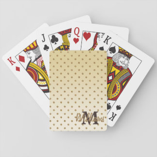 Awesome shining faux glitter gold polka dots playing cards