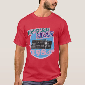 Awesome Since 1984 - Retro Boombox T-Shirt