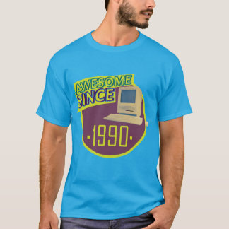 Awesome Since 1990 - Retro Computer T-Shirt